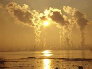 polución del aire con CO2