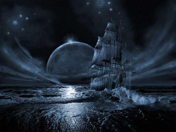 poster de barco fantasma