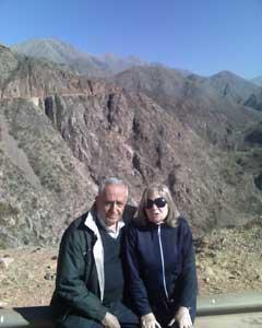 Clemente Rebich y su esposa
