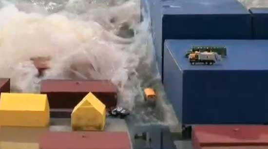 Simulación tsunami wavewmaker
