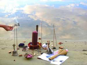 regalos para Yemanyá en la playa