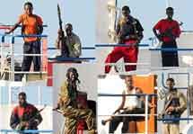 diversas semblanzas de los piralas somalís