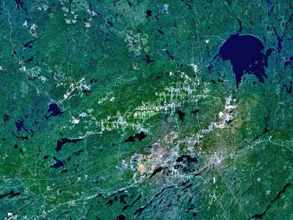 Sudbury, imagen de satélite