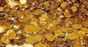 tesoro de monedas de oro
