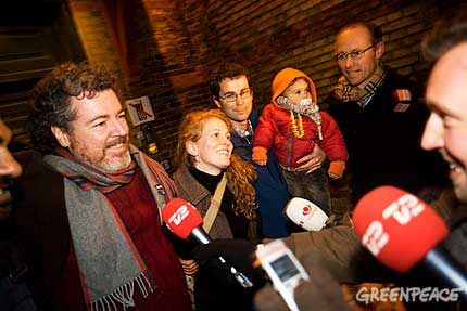 Uralde, Greenpeace España en libertad