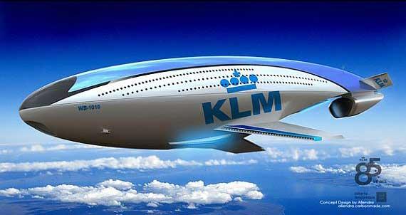 wb-1010 KLM, diseño futurista