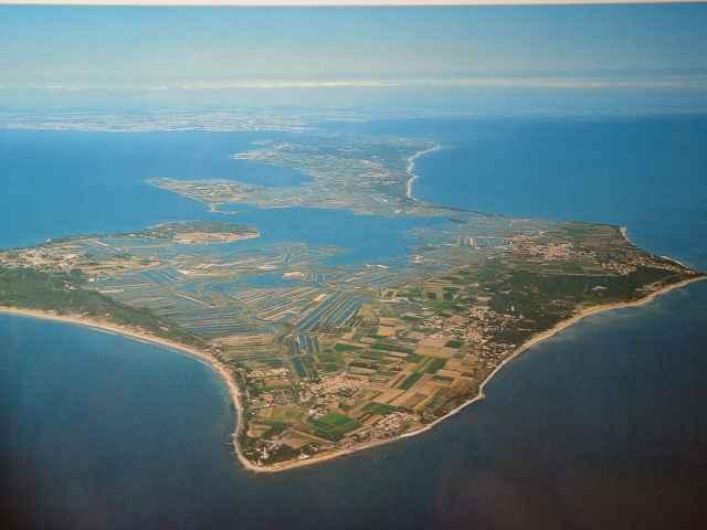 Vista aérea de la Isla de Re