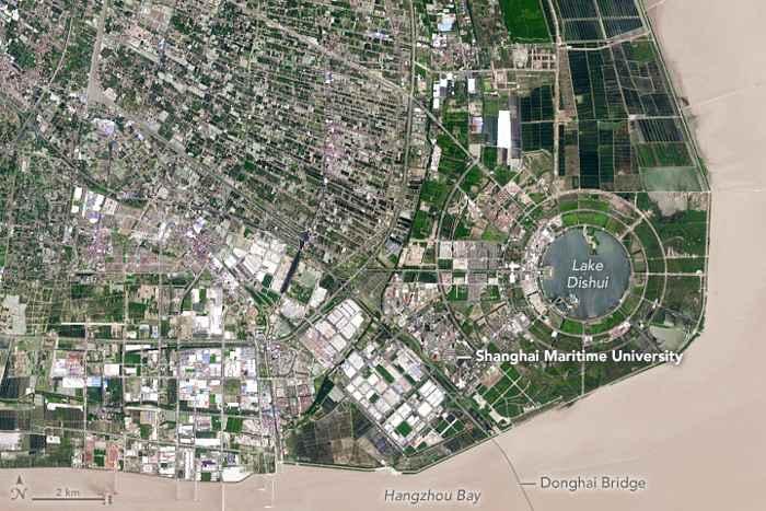Shanghai desde satélite