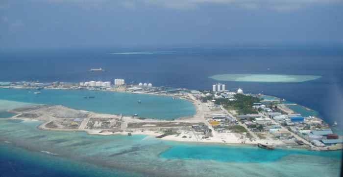 isla vertedero de Thilafushi, Maldivas