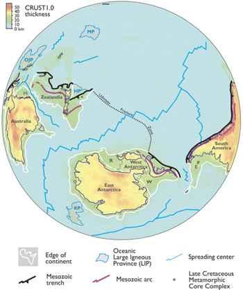 Zealandia mapa antartida