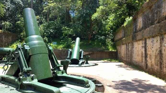 baterías de artillería en la isla del Corregidor, Filipinas