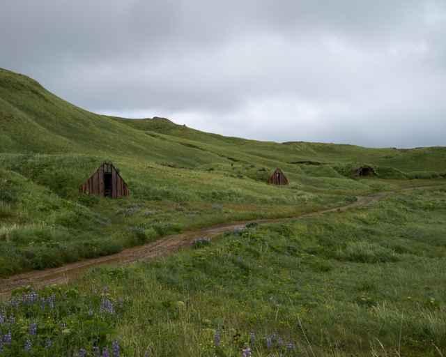 bunkers  en la isla de Adak