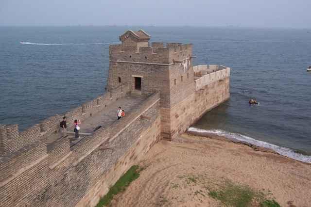 cabeza del viejo dragón, Gran Muralla china