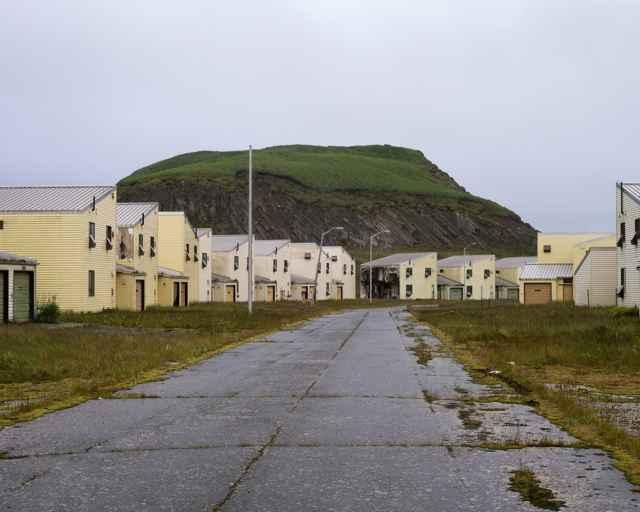 casas abandonadas en la isla de Adak