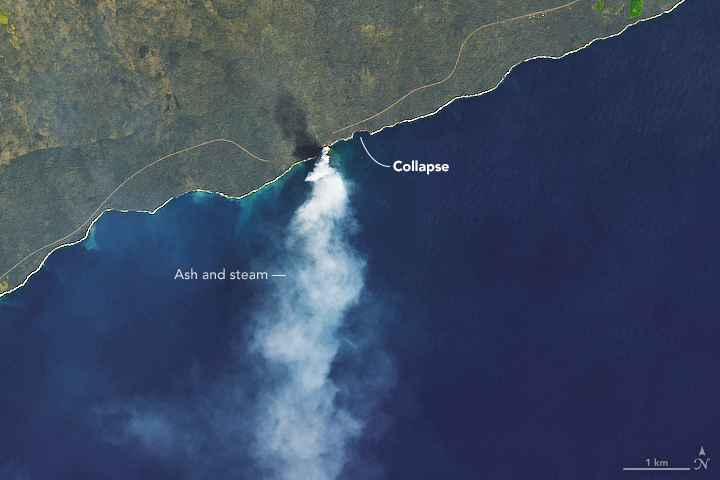 colapso delta de lava Kamokuna actual