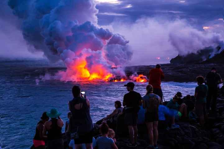 colapso delta lava en Hawái