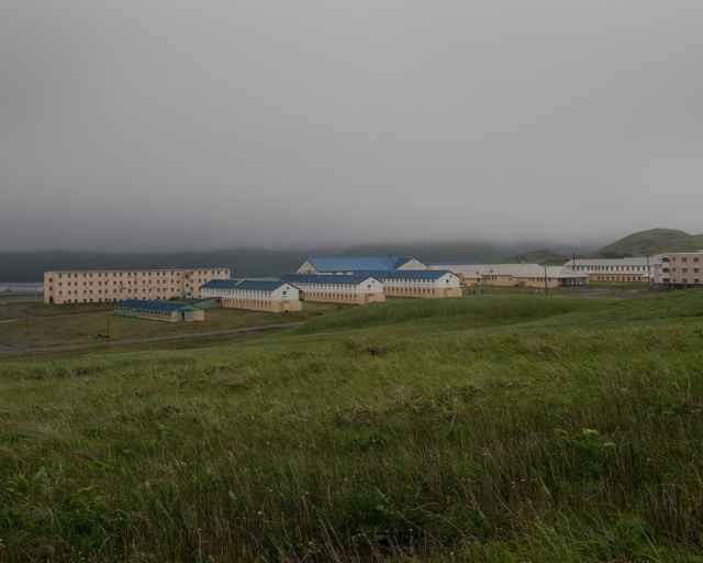 cuarteles abandonados en la isla de Adak