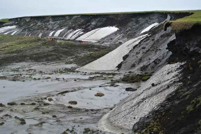 erosión costera en Herschel Island