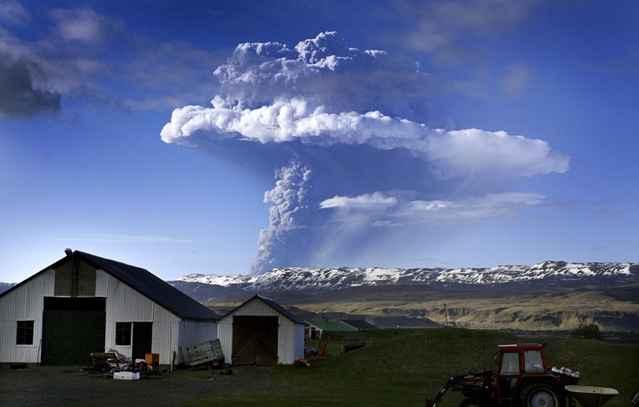 erupción del volcán Grímsvötn