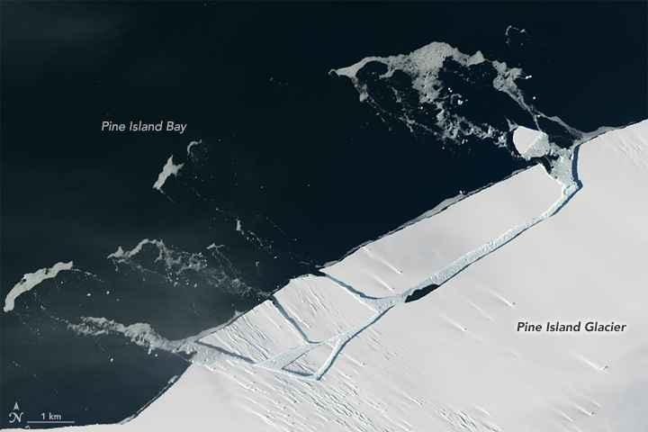 Glaciar Pine Island 26 de enero de 2017