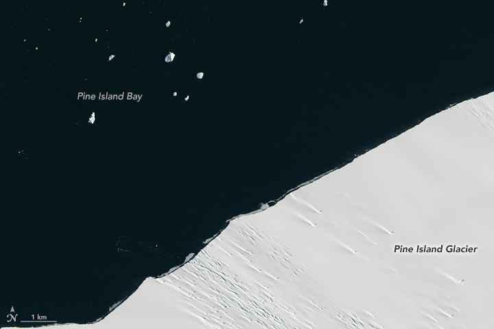 Glaciar Pine Island 24 de enero de 2017