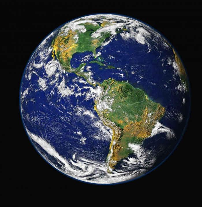 hemisferio oeste de la Tierra