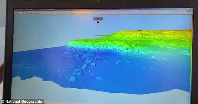 imagen multi espectral del fondo marino
