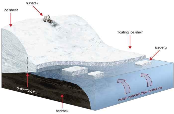 interacciones en una plataforma de hielo