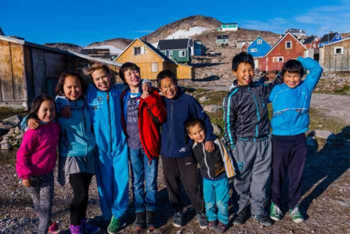 niños inuit de Groenlandia