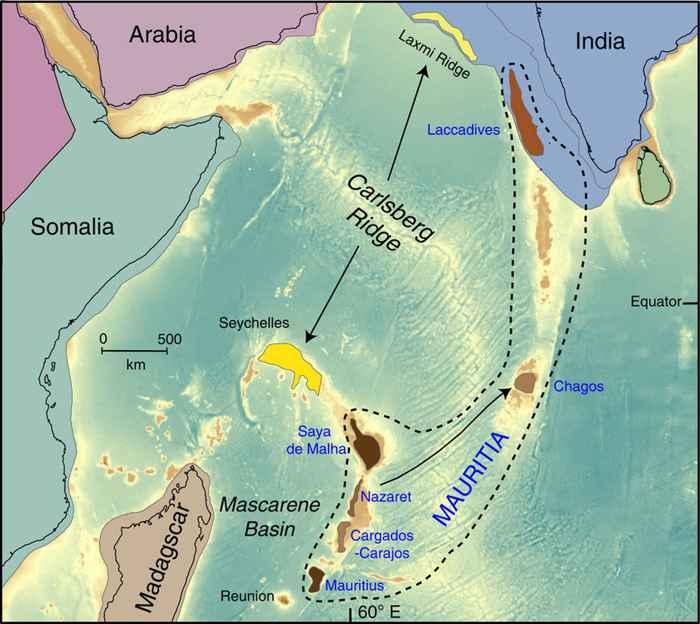 localización de posibles fragmentos del continente perdido