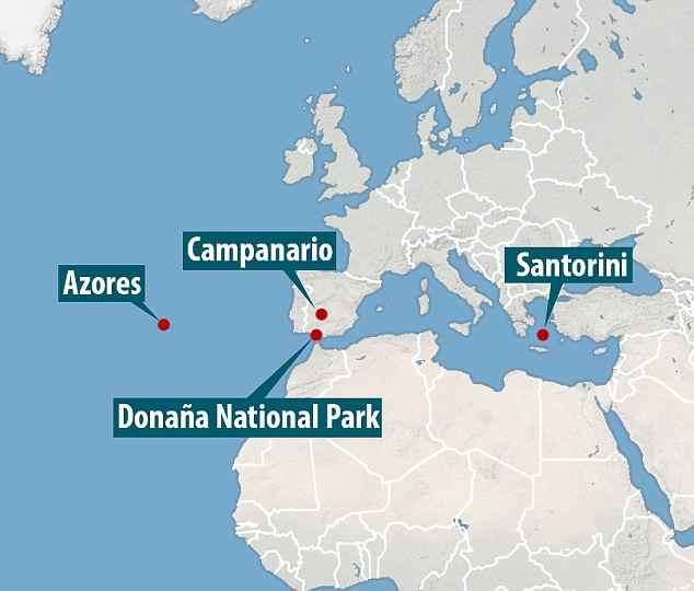 mapa de las exploraciones del documental