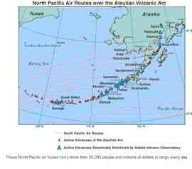 mapa de las Islas Aleutianas