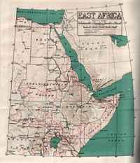 mapa de la situación de la isla de Suakin