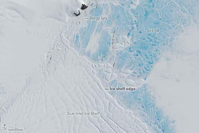 parto de icebergs y témpanos