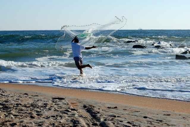 pesca con esparavel