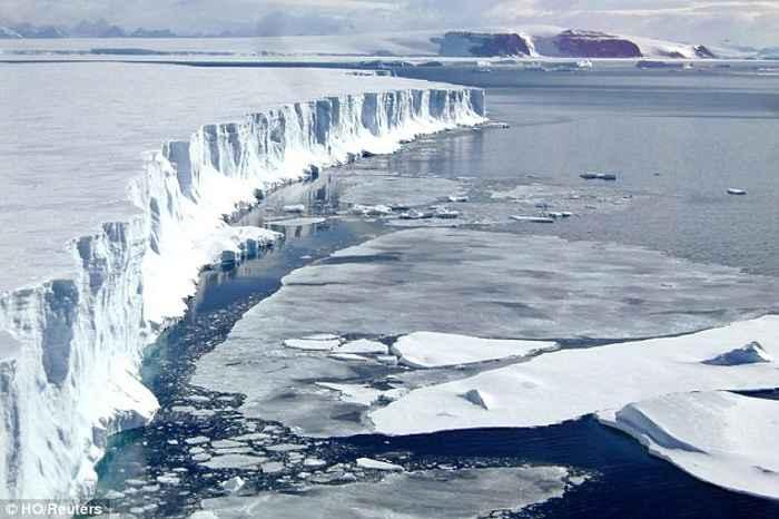 plataforma de hielo en la Antártida