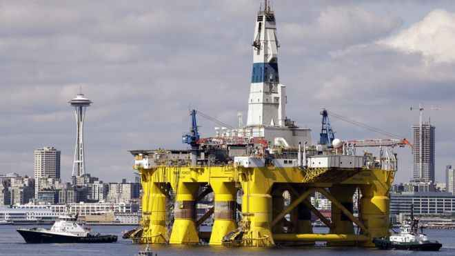 plataforma de perforación de petróleo