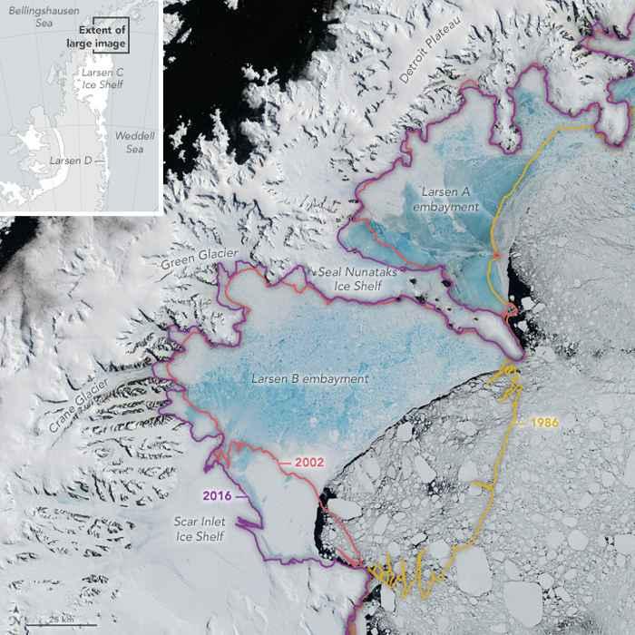 plataformas de hielo Larsen A y B