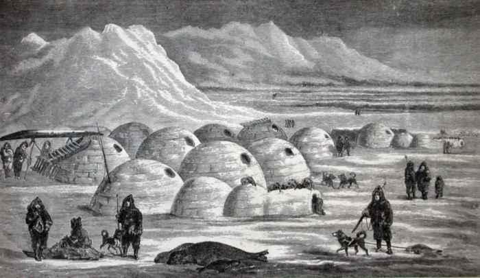 poblado de iglús esquimales
