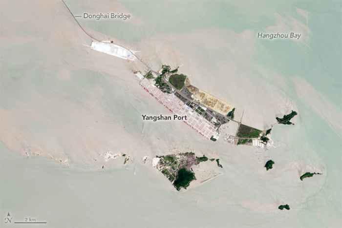 puerto de Yangshan en la actualidad