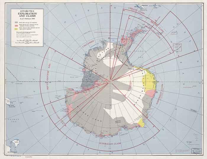 reclamaciones sobre la Antártida en 1956