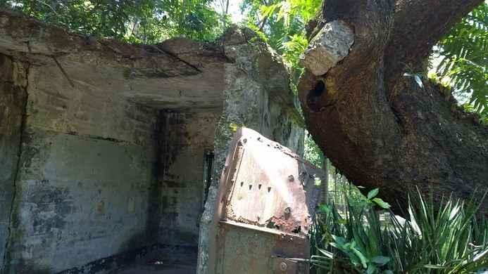 un refugio en la isla del Corregidor