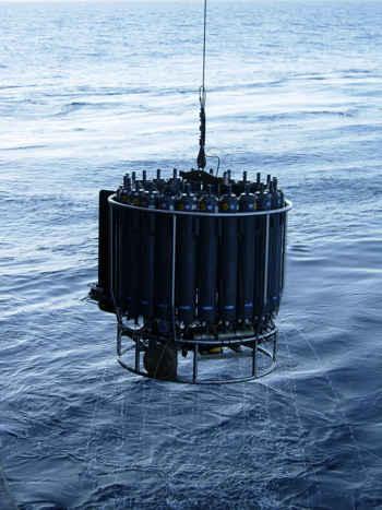 roseta oceánica para medir concentración de metano