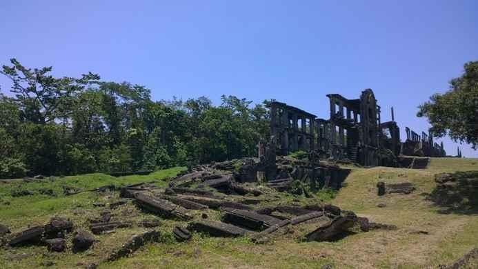 ruinas en la isla del Corregidor, Filipinas