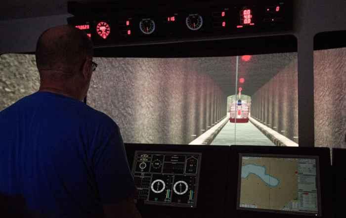 interior del túnel para buques de Stad, Noruega