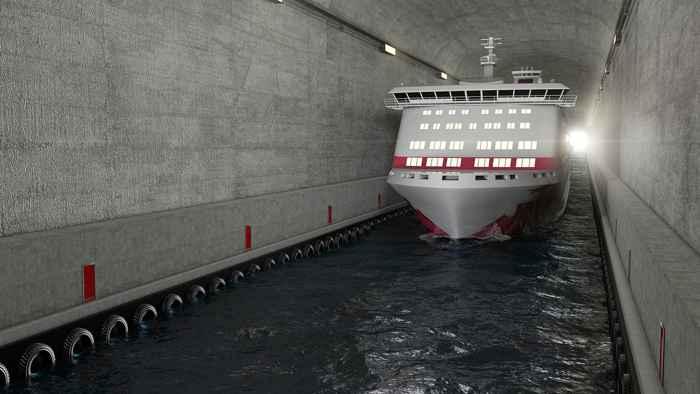 túnel para buques de Stad, Noruega