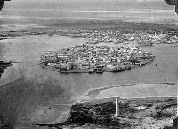 vista aérea de Suakin en 1930