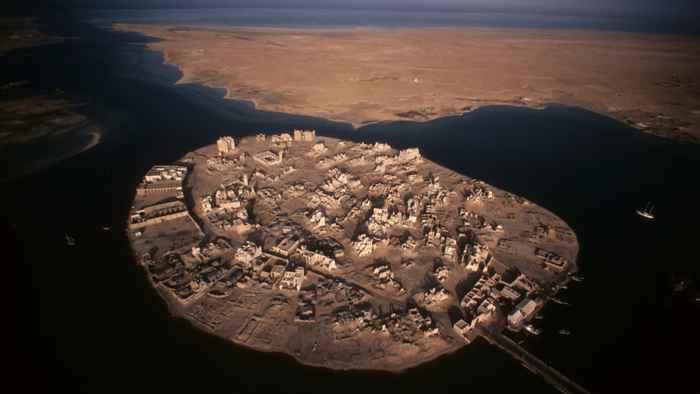 vista aérea de la isla de Suakin