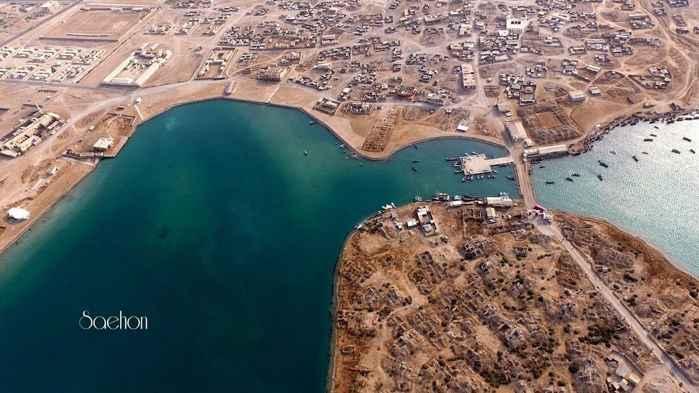 vista aérea de la calzada de Suakin