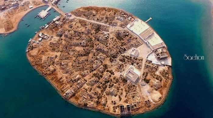vista aérea reciente de la isla de Suakin